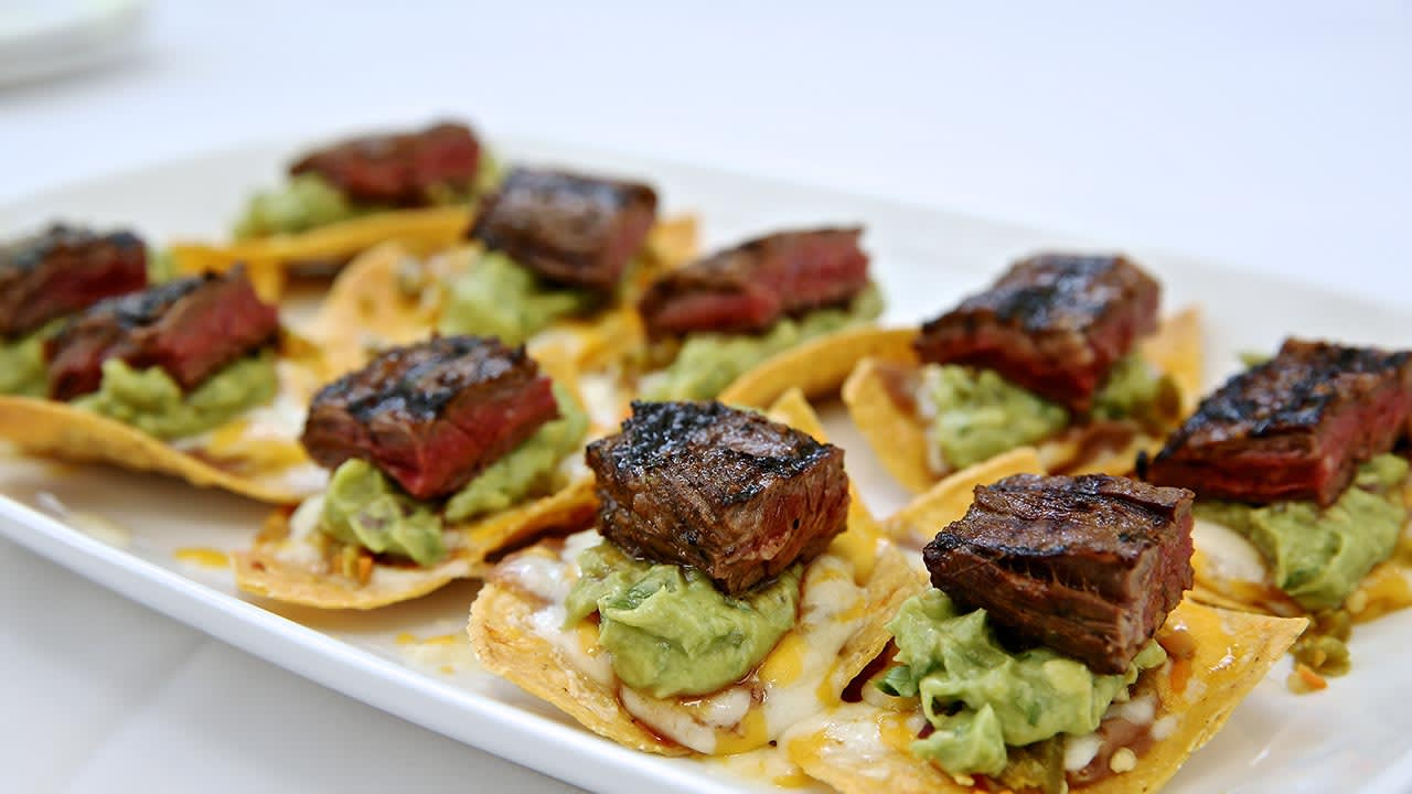 steak guac bites